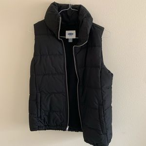 Black Puffy Vest (for outdoors)